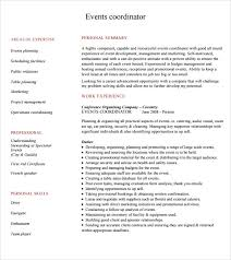 Sample Event Coordinator Resume Free Word Templates by Sample Event Planner Resume 8 Documents In Pdf