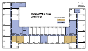 Dorm Floor Plans by University Housing Campus Communities Holcombe Information