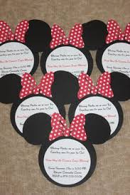 red minnie mouse birthday party invitations by honeyprint on etsy