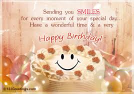 Sweet Birthday Cards A Sweet Wish Free Smile Ecards Greeting Cards 123 Greetings