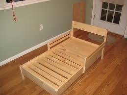 homemade toddler bed daddy daze blog easy diy toddler bed for the home pinterest