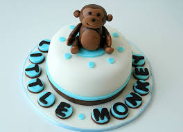 mini cake for monkey themed baby shower a photo on flickriver