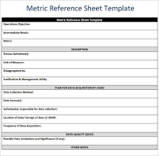 sample reference sheet 9 examples format
