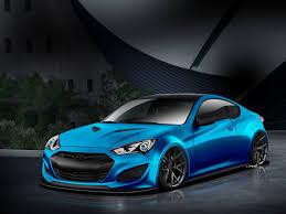 Hyundai Genesis Coupe Specs Atlantic Blue Hyundai Genesis Coupe Will Make Waves At Sema