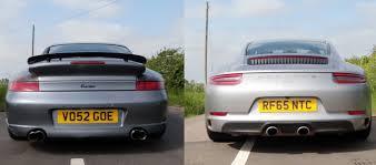 porsche carrera 911 turbo comparing the sound of porsche 911 996 turbo and 2017 porsche 911
