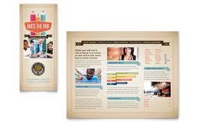 tri fold school brochure template tutoring school brochure template design