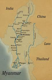 Map Burma The Stylish Way To See Myanmar By River Architecture Of The