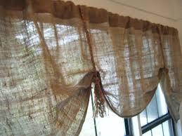 curtain stunning burlap valance window treatments awesome burlap