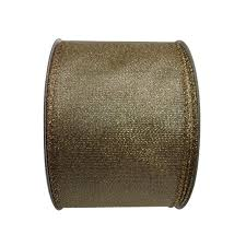 gold metallic ribbon shop living 2 5 in w x 30 ft l gold metallic ribbon at