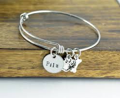 personalized bangle bracelet dog bracelet personalized bangle bracelet paw print bracelet