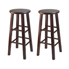 bar stool buy amazon com winsome 29 inch square leg bar stool antique walnut