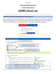 ahima virtual lab the ahima academy