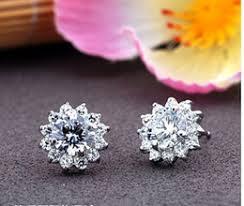 diamond earrings nz sunflower diamond earrings nz buy new sunflower diamond earrings