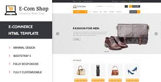 ecom responsive ecommerce html template by wpmines themeforest