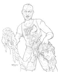 michael jordan coloring pages sketch coloring page