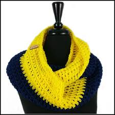navy blue u0026 yellow infinity scarf bundle up crochet