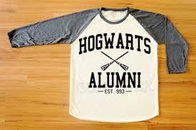 hogwarts alumni sweater alumni raglan shirt baseball tshirt tattoo top t shirts
