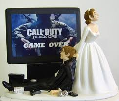 gamer wedding cake topper junkie groom customized wedding cake topper the