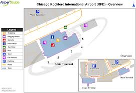 Map Of Chicago Airport Chicago Rockford Chicago Rockford International Rfd Airport