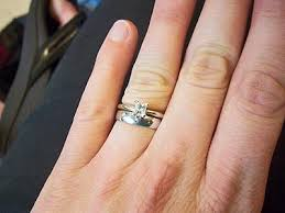 wedding band and engagement ring show me your plain wedding band i you gals are out