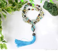 natural beads necklace images Wholesale natural blue stone a mazonite beads necklace with oval jpg