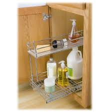 Lynk Roll Out Under Sink Cabinet Organizer Pull Out Two Tier - 21 inch wide bathroom cabinet