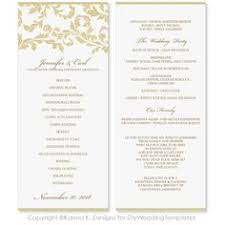 Easy Wedding Program Template Daisies Wedding Program Templates Easy To Download And Edit In
