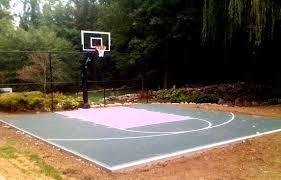 backyard basketball court dimensions half court home outdoor