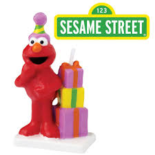 sesame street elmo birthday candle wilton