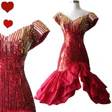 prom dresses from the 80s 80s gold sequin prom dress s