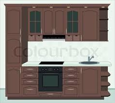 furniture kitchen kitchen furniture interior of kitchen stock photo colourbox