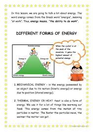 ignite energy alternative forms of worksheet 3rd grade energy