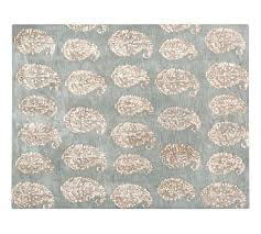 Pottery Barn Rugs Clearance Ameline Paisley Tufted Rug Blue Pottery Barn
