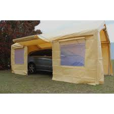 Car Carport Canopy King Canopy Tan A Frame Enclosed Carport With Awning 10 X 20 Ft