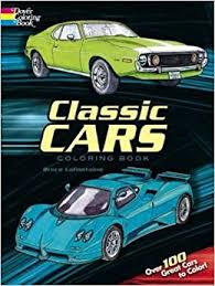 classic cars coloring book bruce lafontaine coloring books