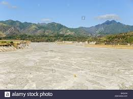 river channel floored with pumice lahar deposits pinatubo volcano