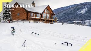 16 year old red gerard u0027s ultimate backyard snowboarding park