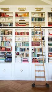 Bookcases With Lights Library With Painted Built In Shelves Brass Picture Lights