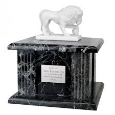 marble urns lion black marble urn in the light urns