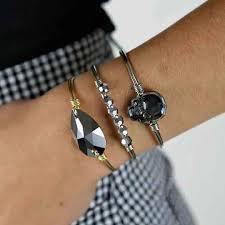 skull bangle bracelet images Sugar skull bangle bracelet in silver night luca danni jpg