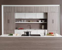 warm and inviting contemporary kitchen textured foil cabinets
