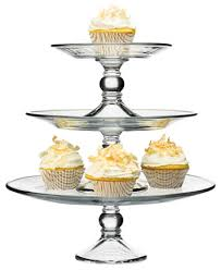 tier cake stand the cellar serveware stackable 3 tier cake stand created for