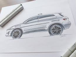 range rover sketch volkswagen interceptor on student show