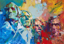 mount rushmore 190x280cm 74 8x110 2 inch acrylic on canvas