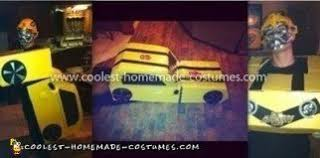 Coolest Transforming Bumblebee Transformer Costume Transformer Coolest Homemade Costumes Diy Costume Enthusiasts