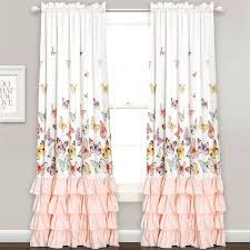 girl bedroom curtains bay window curtains with lace girls room curtains for girls room