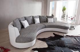 rund sofa rundsofa limoncelli grau weiß benformato möbel letz ihr
