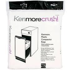 amazon com kenmore 13370 trash compactor bag 10 pack home u0026 kitchen