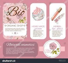 Salon Invitation Card Rose Natural Cosmetic Banner Design Cosmetics Stock Vector