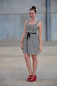 25 best black and white striped dresses images on pinterest